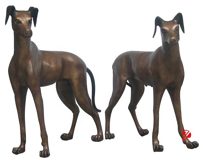 dog statue life size