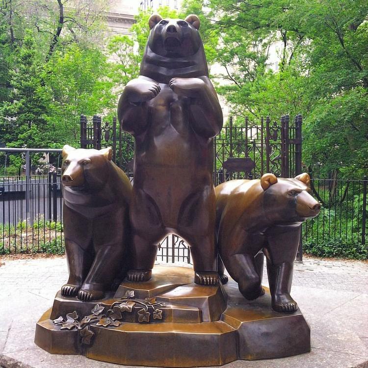 brown bear statue