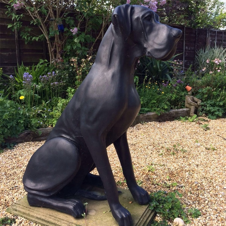 modern dog sculpture