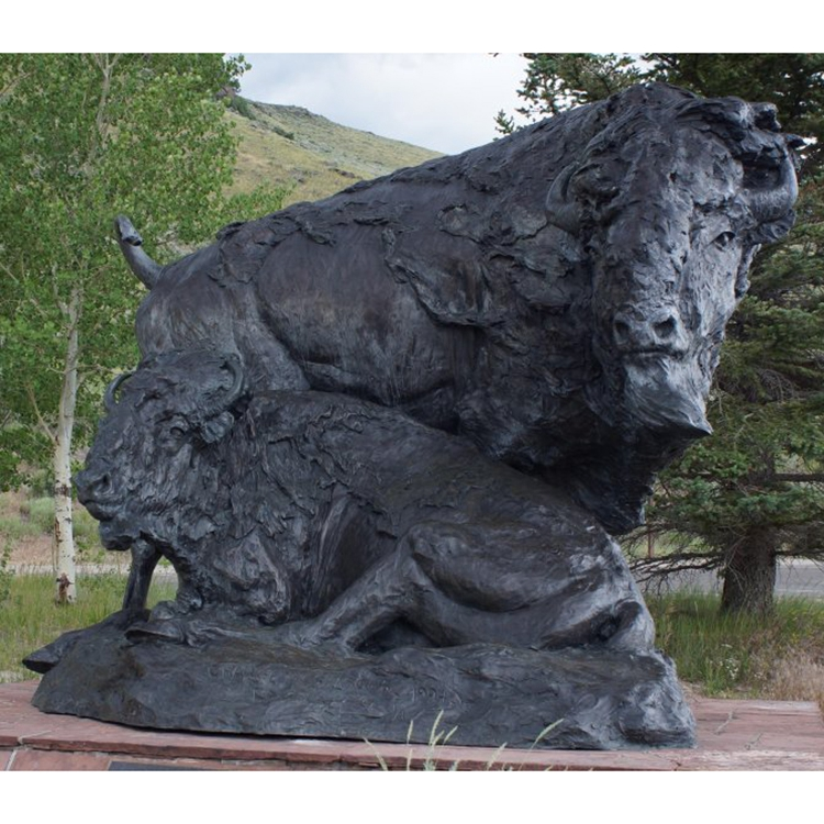 The buffalo sculpture