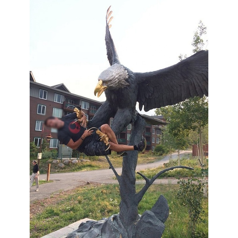garden sculptures outdoor eagle
