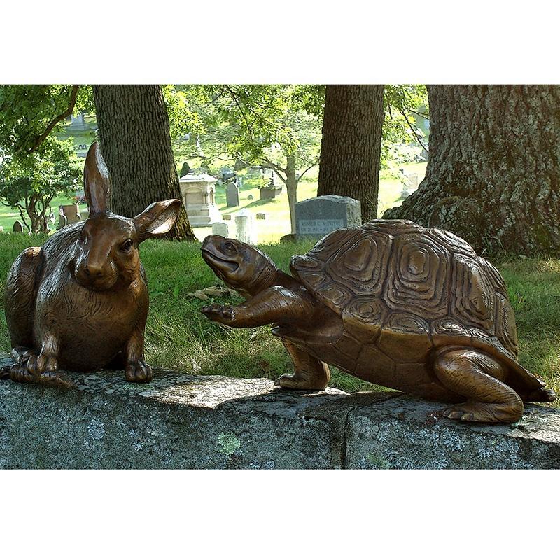 bronze turtle sculpture