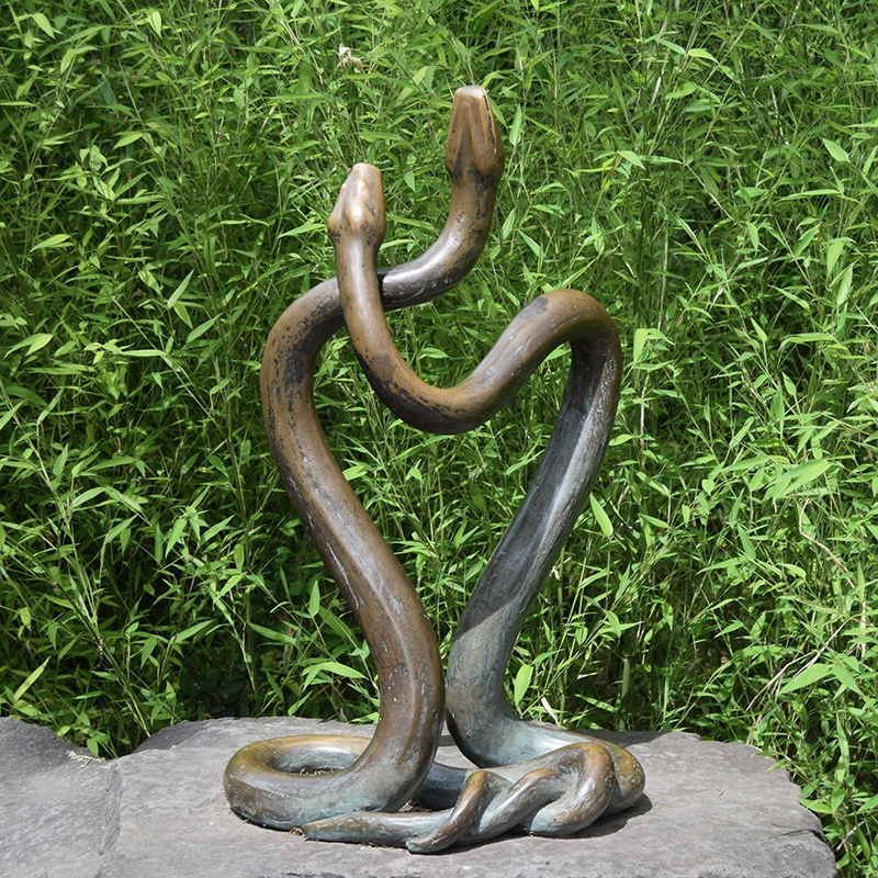 the snake statue