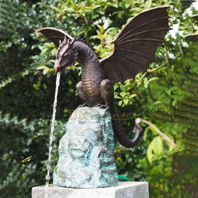 garden dragon fountain sculpture