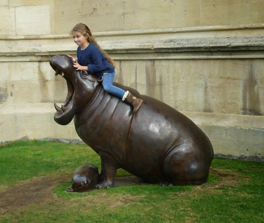 fierce hippo sculpture