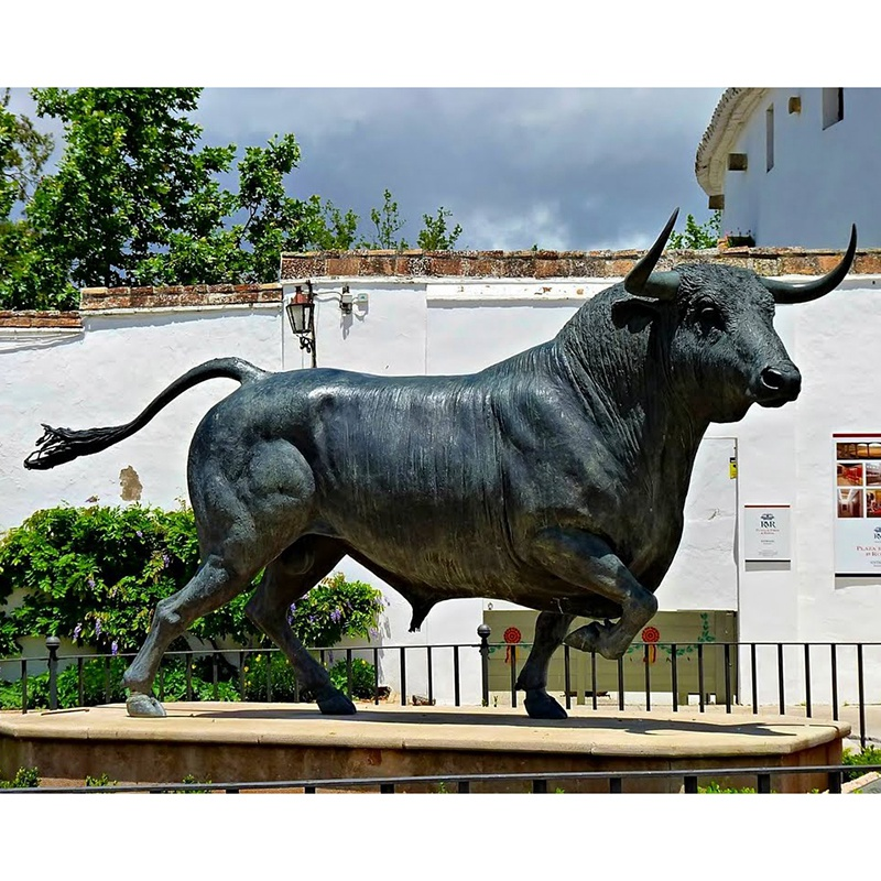 running bull sculpture