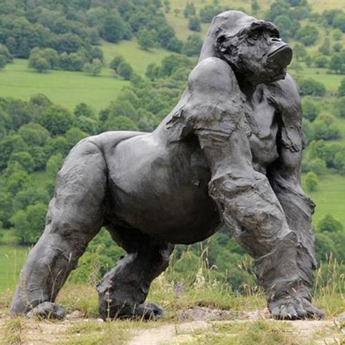 garden gorilla sculpture