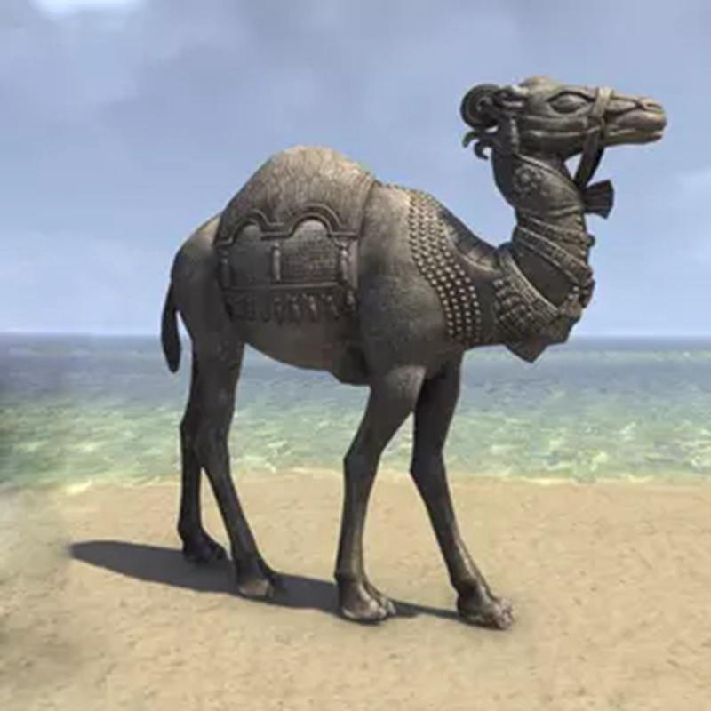 garden camel sculpture