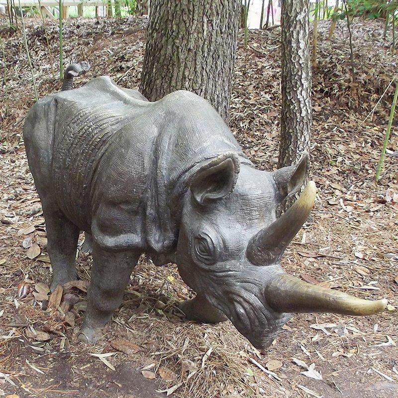 large rhino sculpture