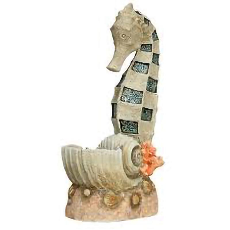 seahorse fountain statue