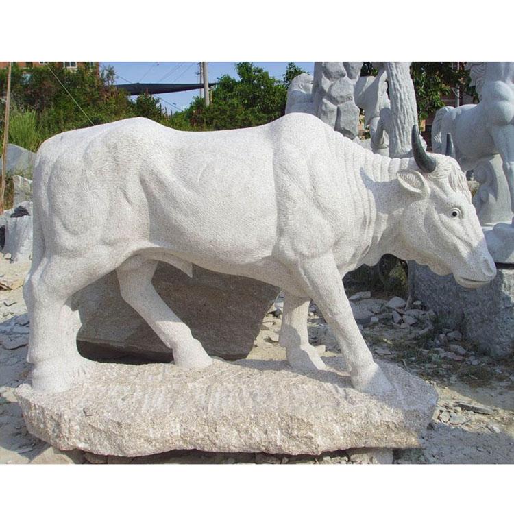 White bull statue