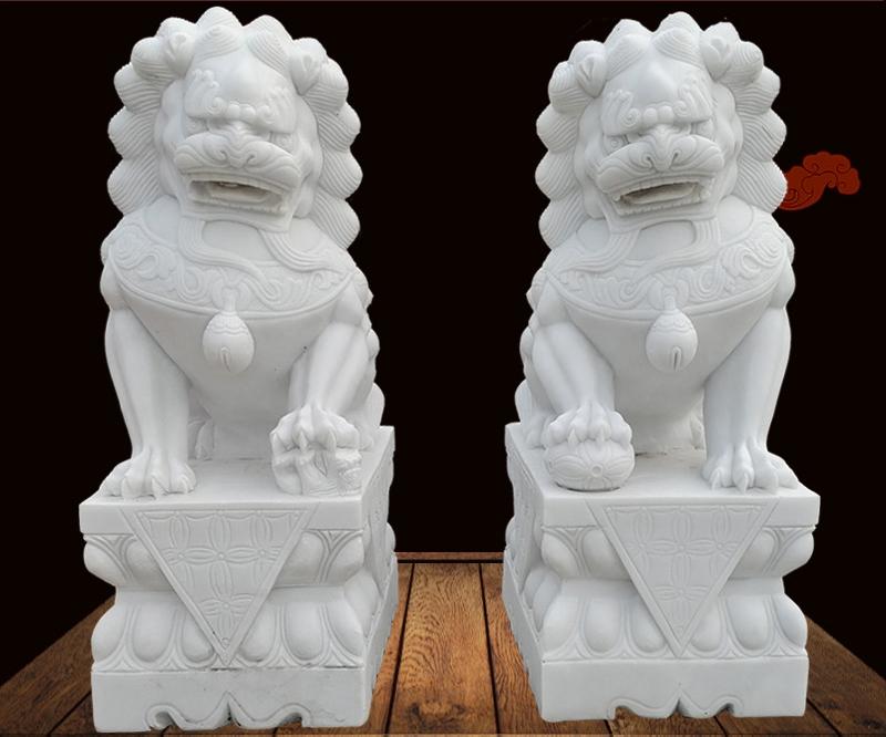 Marble lion statues sculpture