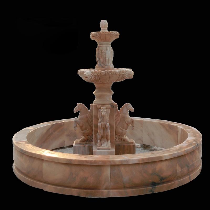 stone horses fountain