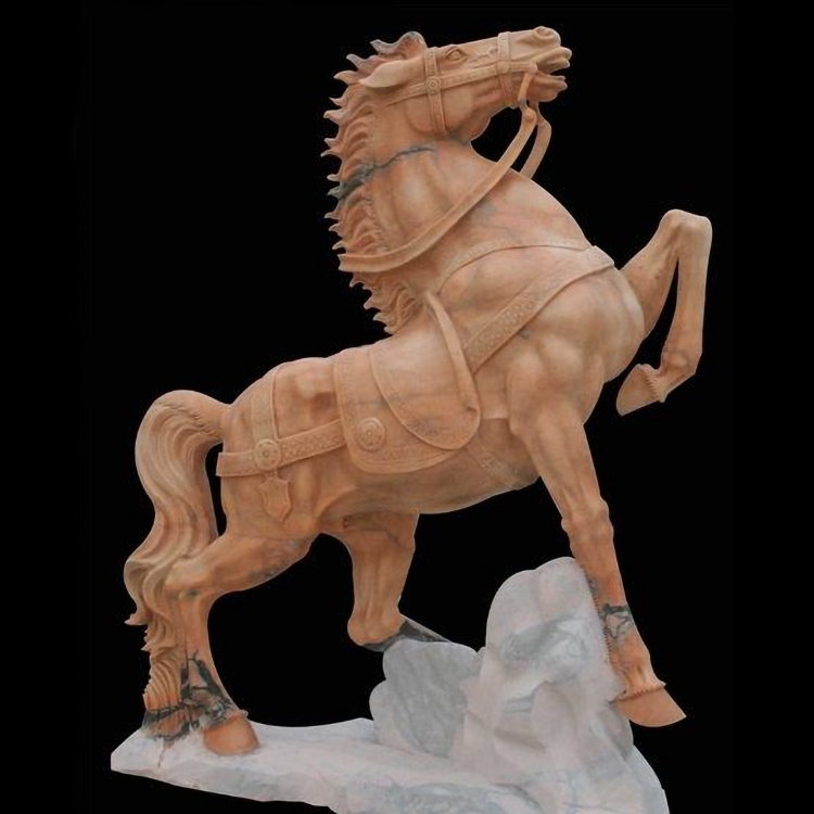 Horse stone sculpture