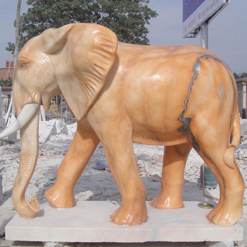 Elephant marble statue