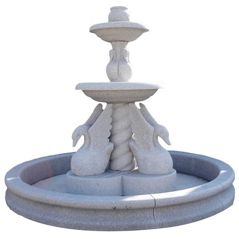 Bird fountain astatue stone