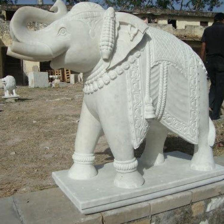 Handmade stone elephant
