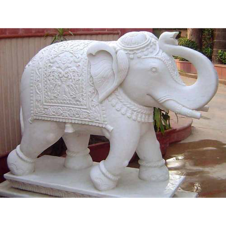 The stone elephant sculpture