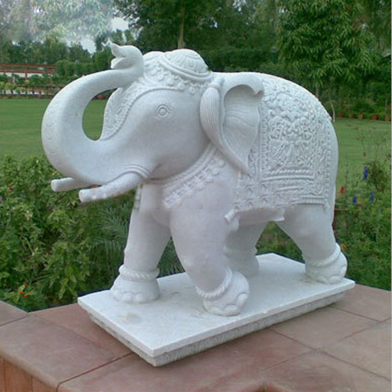 The marble elephant statue