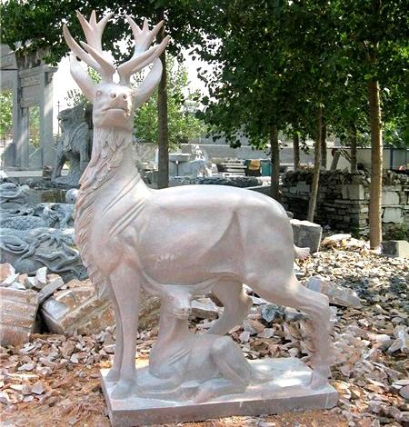 modern sculpture deer