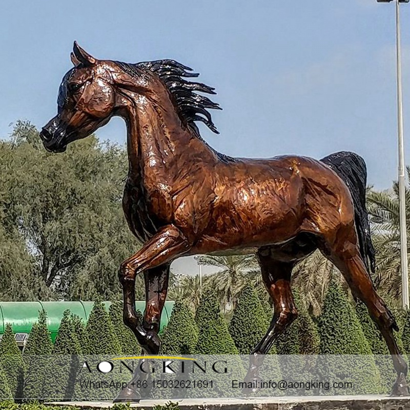 Bright horse sculpture