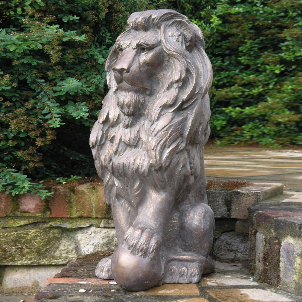 Decorative Brass Lion Statue