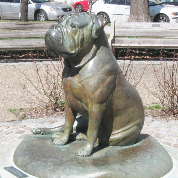 life size bulldog sculpture