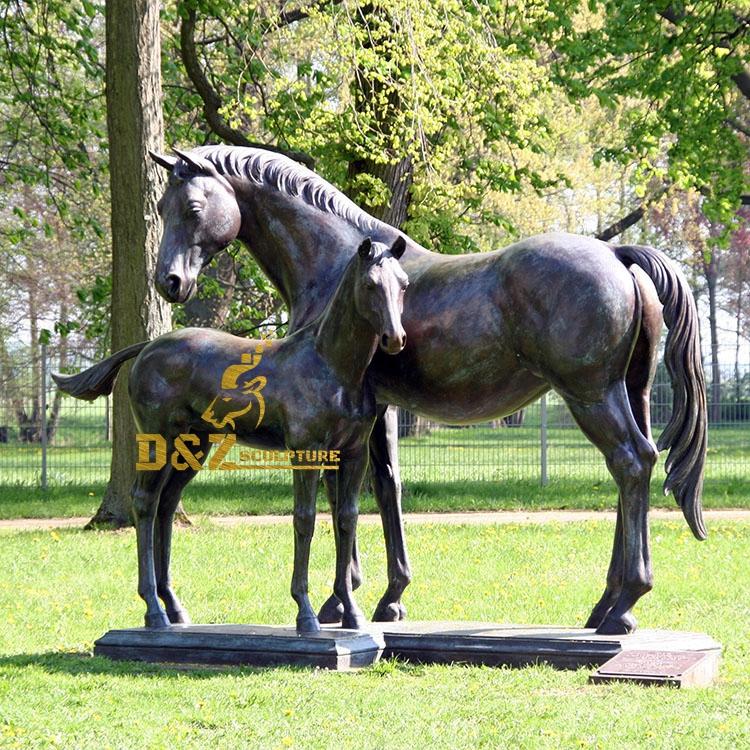 artificial customize horses sculpture