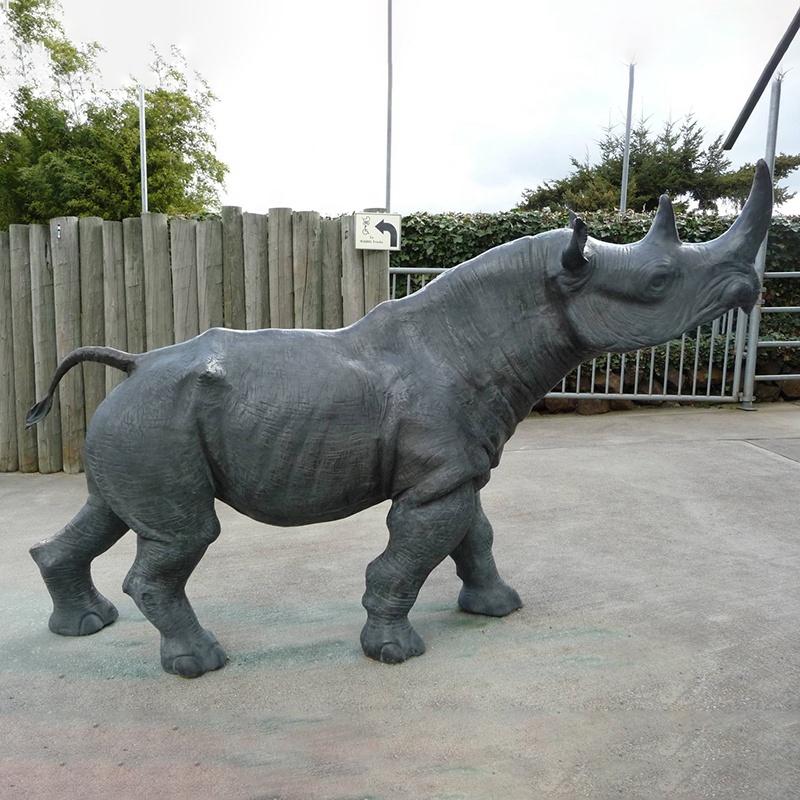 modern medium rhinoceros sculpture