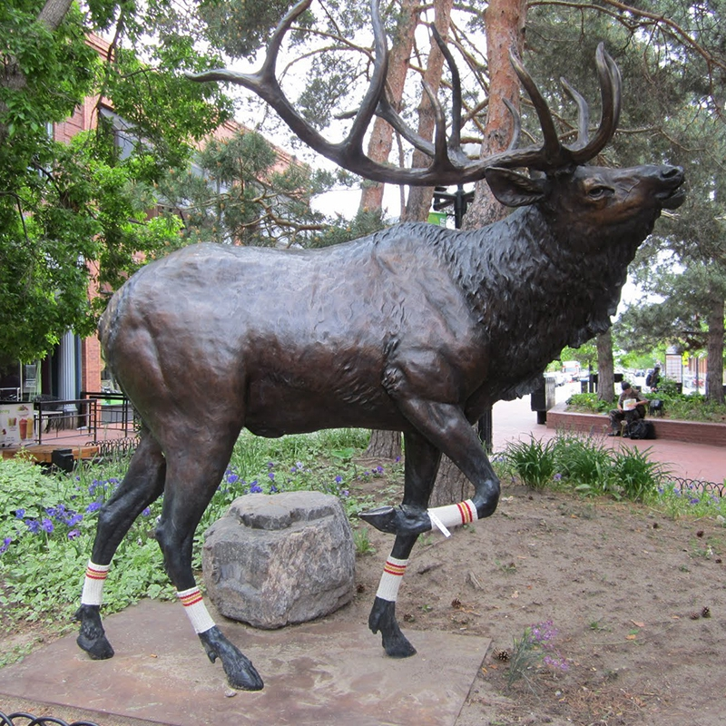 popular park elk sculpture