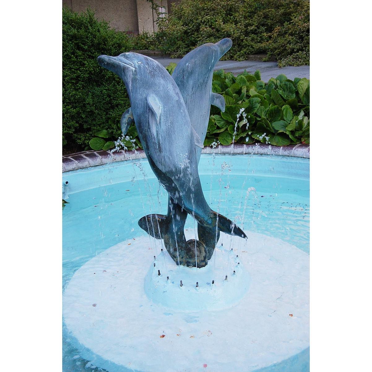 dolphin sculpture fountain statue