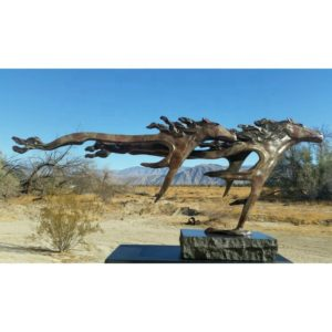 abstract art horses sculpture
