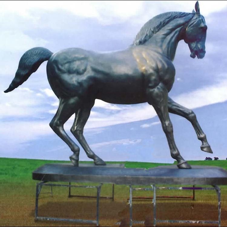 contempary running horse statue
