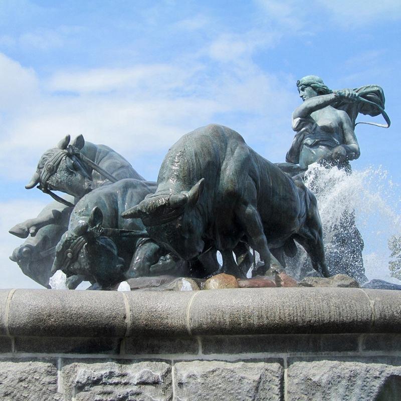 Buffalos Sculpture For Fountain