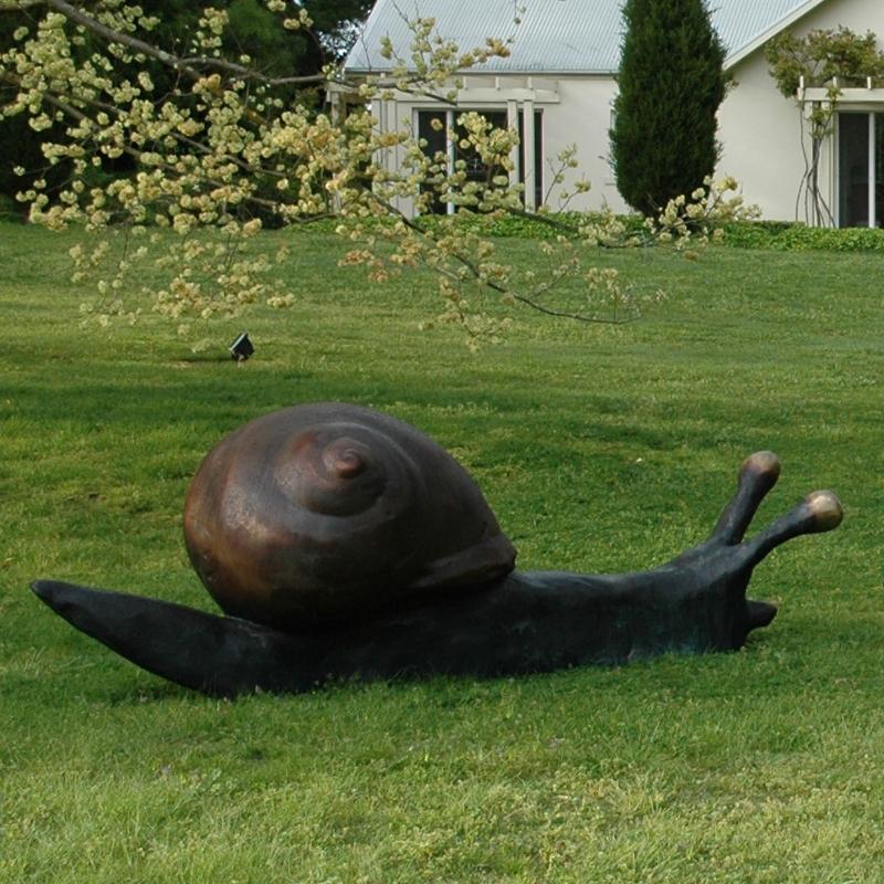 large garden snail sculpture