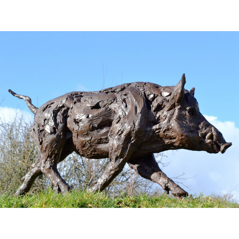 Bronze Wild Boar sculpture