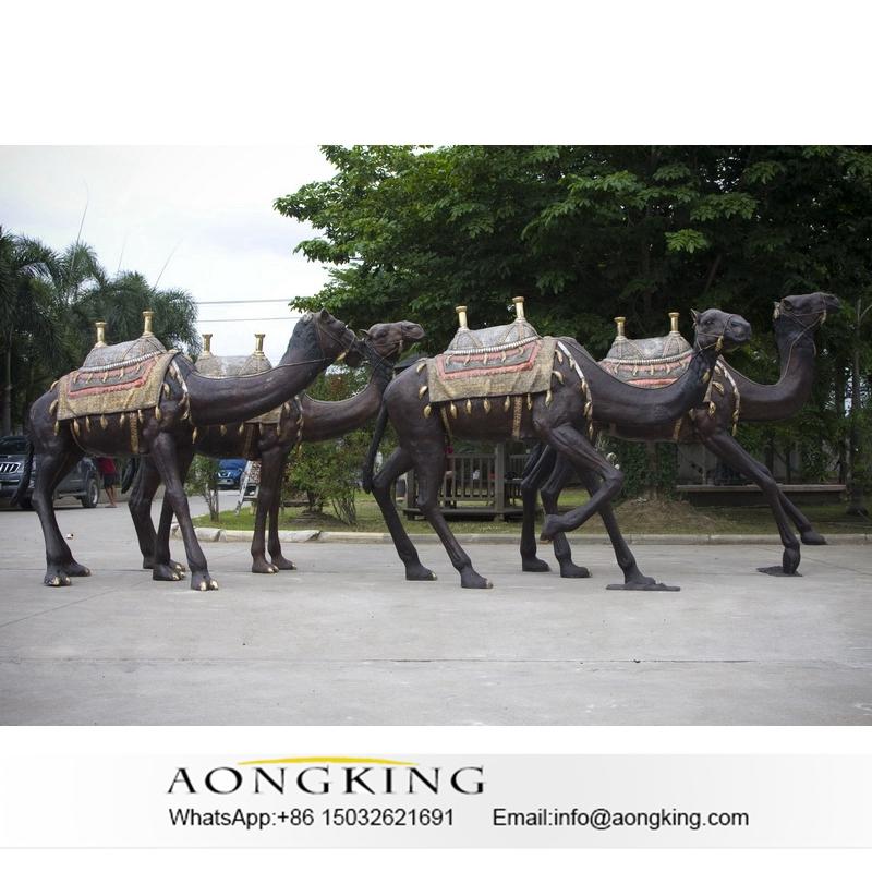 Bronze camel for hotel