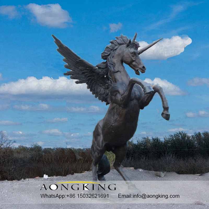 Bronze work horse sculpture