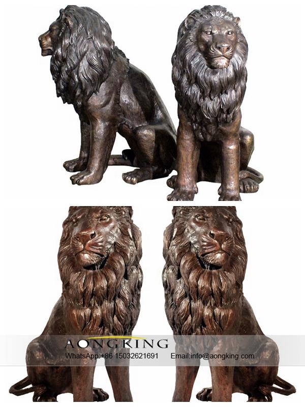 Decoration Brass Lions Statue Decoration Brass Lions Statue