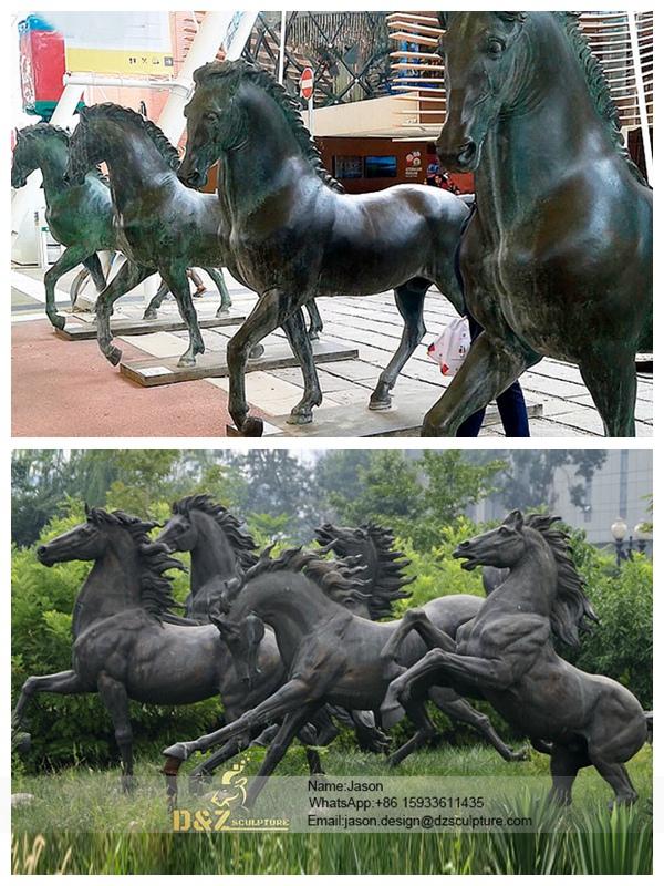 Antique Bronze Horse