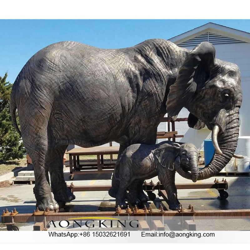 Elephant Zoo Sculpture