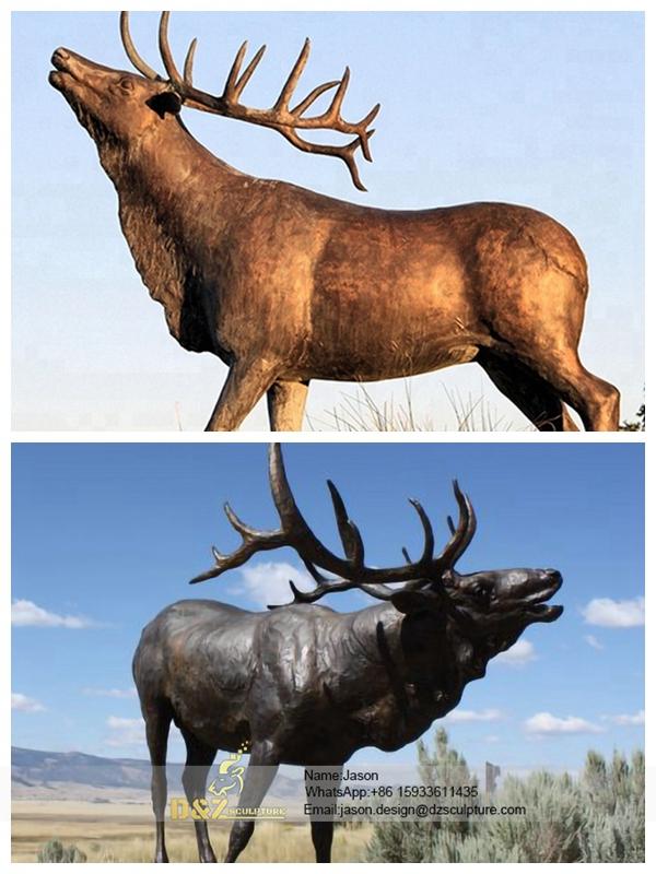 Bronze statue deer