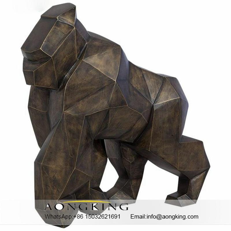 Gorilla modern bronze sculpture
