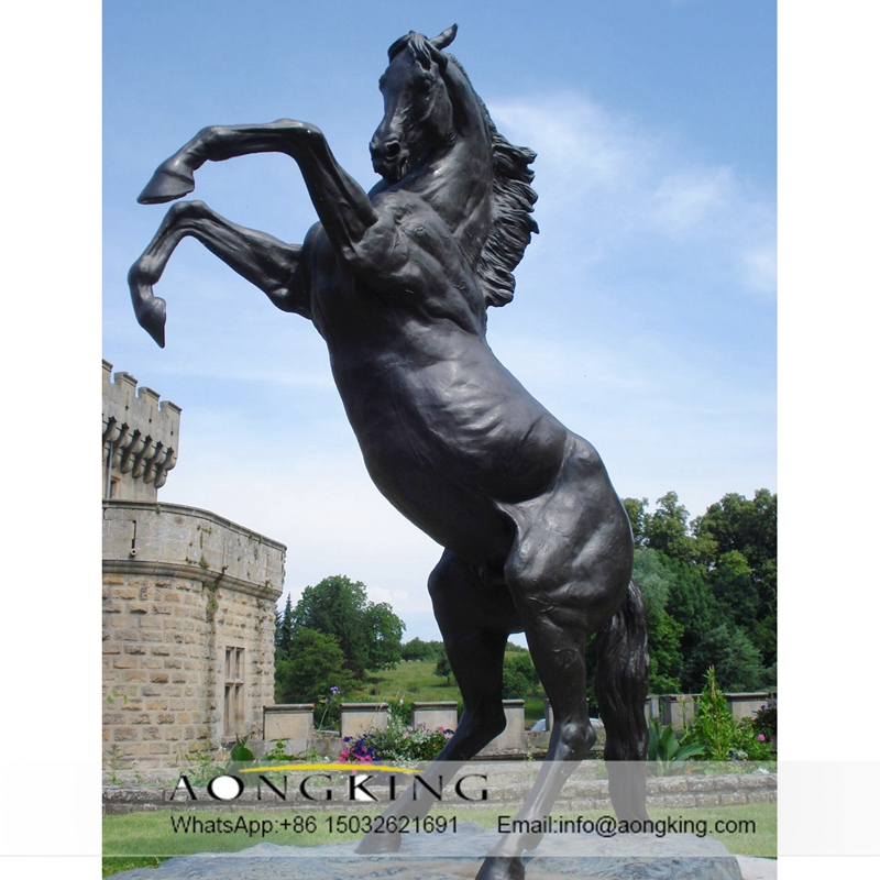 Large garden sculpture horse