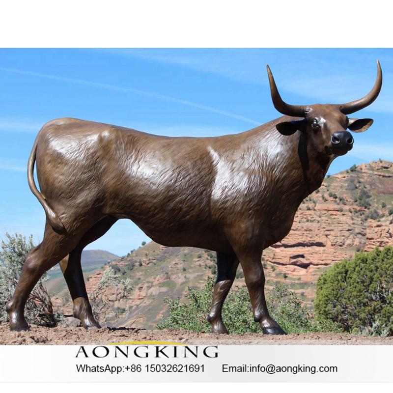 Life size bull statue