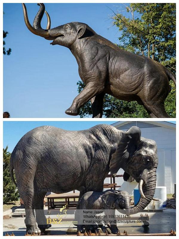 Big Standing Bronze Elephant