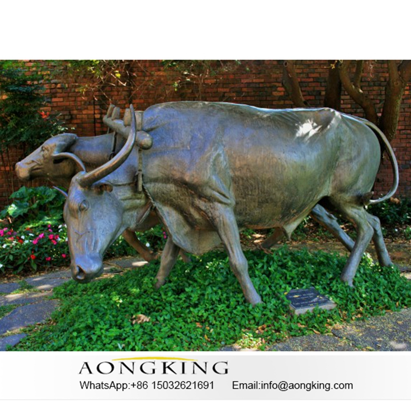 Marble bull statue