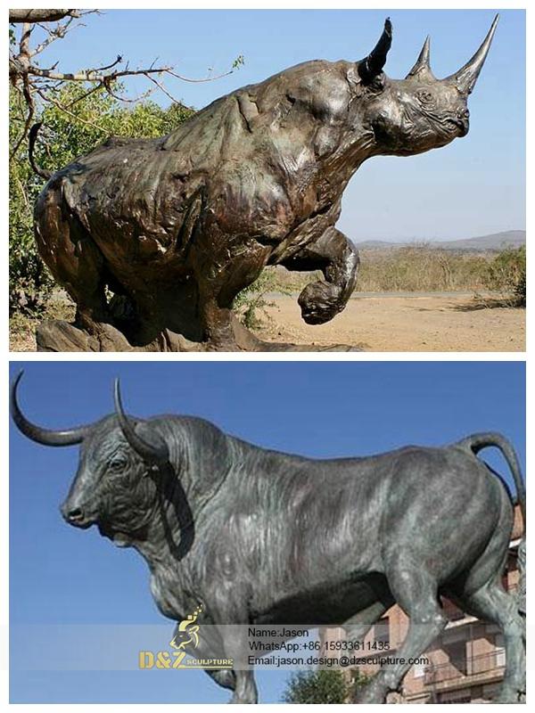 Metal Bull Statue