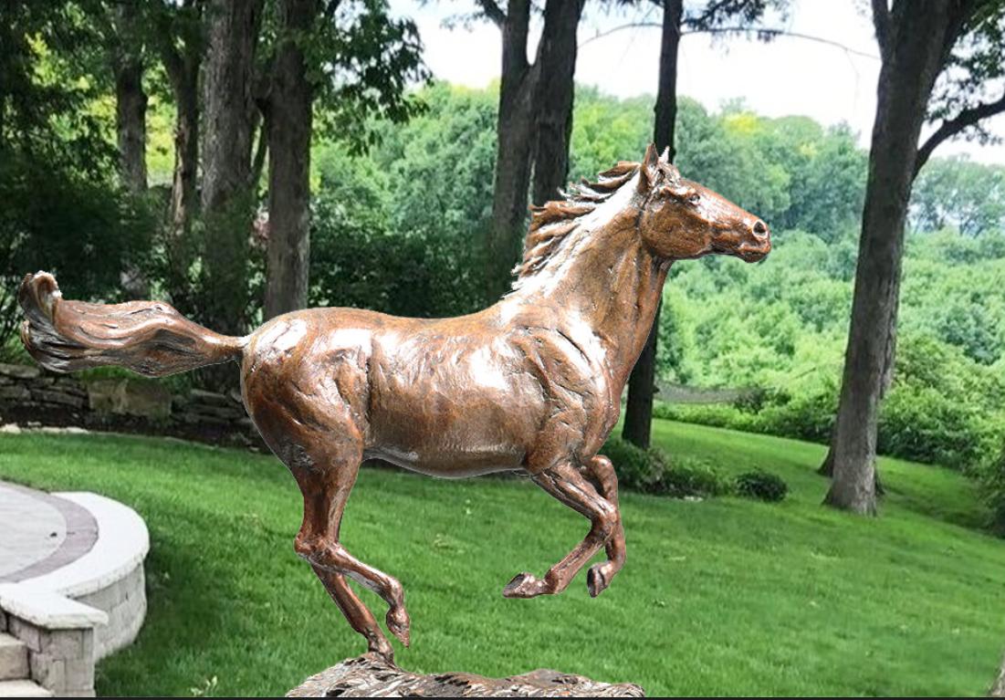 garden horse decoration sculpture