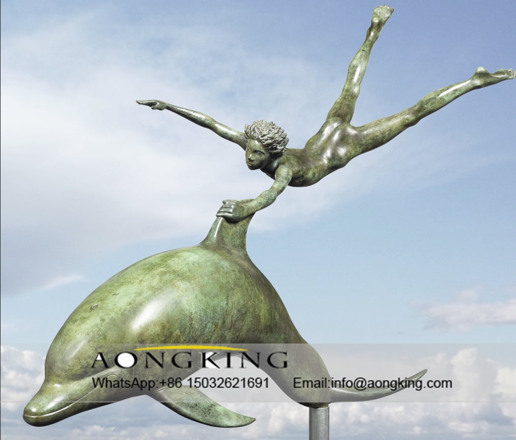 dolphin art sculpture